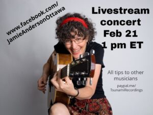 Livestream Concert on Facebook - February 21 at 1 PM